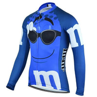 M&M's blue cycling jersey long sleeve