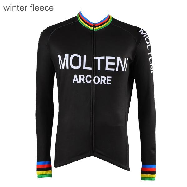 Black Molteni  Arcore cycling jersey long sleeve Eddy Merckx