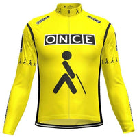 Once retro cycling jersey long sleeve