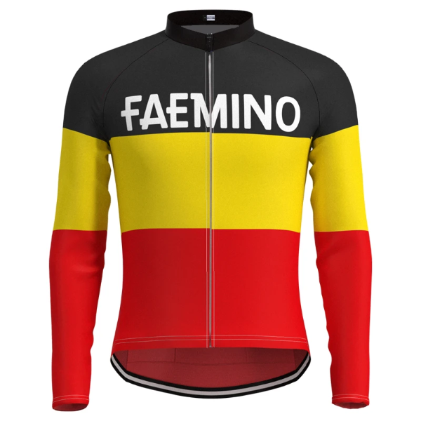 Belgium Faemino vintage cycling jersey long sleeve