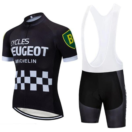 Black Peugeot retro cycling set