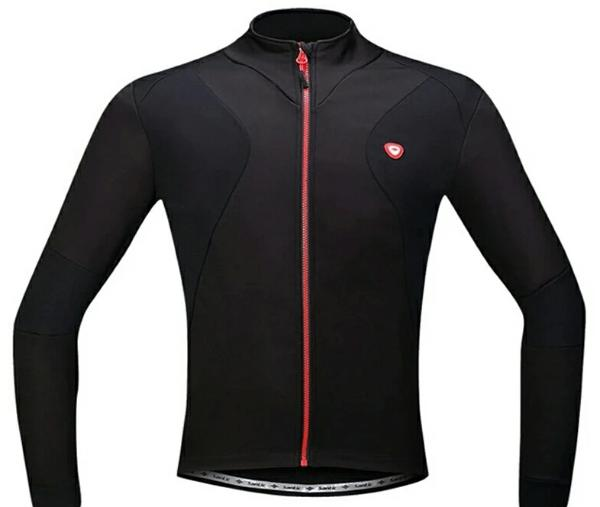 black thermal fleece cycling jacket