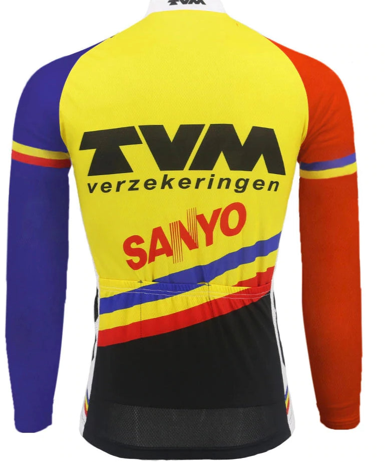 TVM vintage cycling long sleeve Jersey  replica
