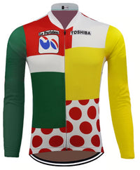 Tour de France combination classification vintage cycling jersey long sleeve