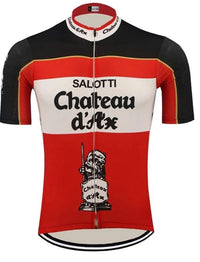 Chateau d'Ax retro cycling jersey 1990