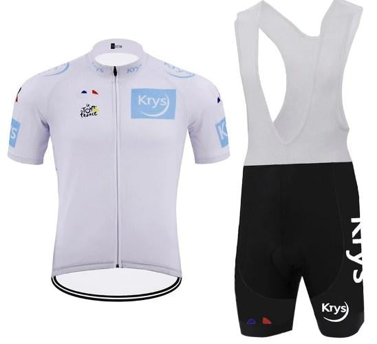 Tour de France white jersey cycling set