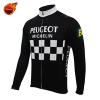 Peugeot retro cycling set long sleeve