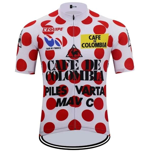 Cycling Jersey Tour de France 85 Cafe de Colombia King of Mountains bcad0d184