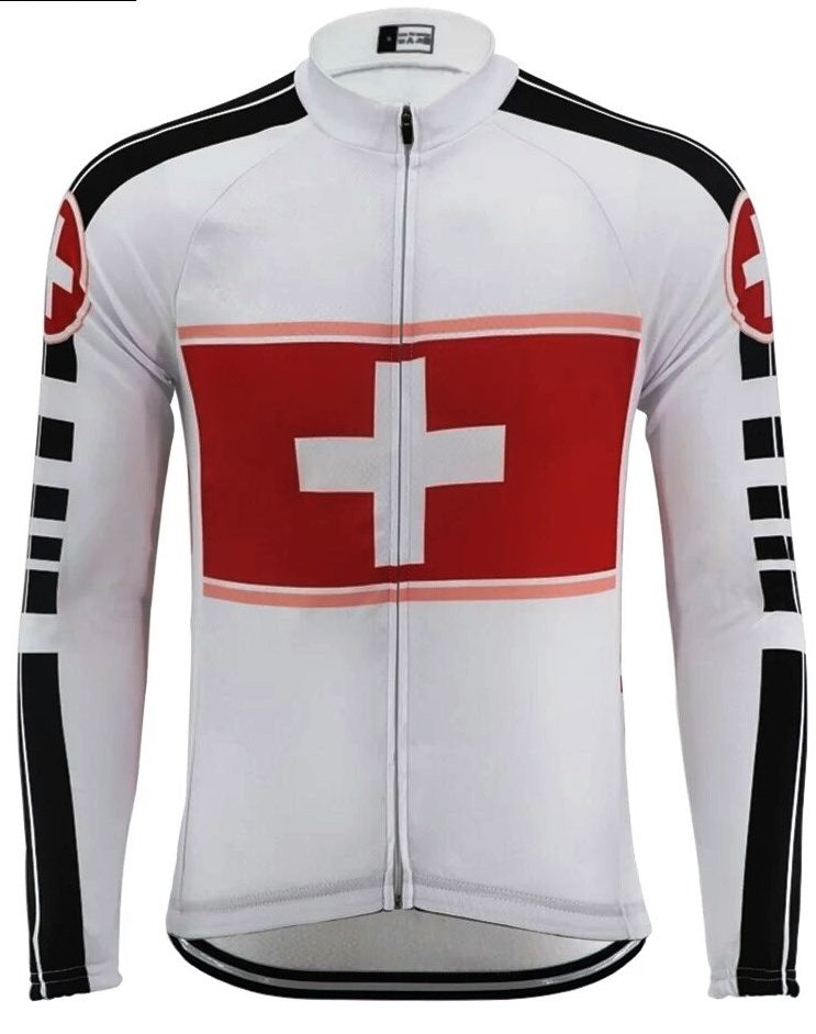 Switzerland vintage cyling jersey long sleeve