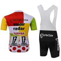 Retro combine cycling set Tour de France 85 (Jersey + bib short)