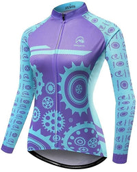 women long sleeve cycling jersey