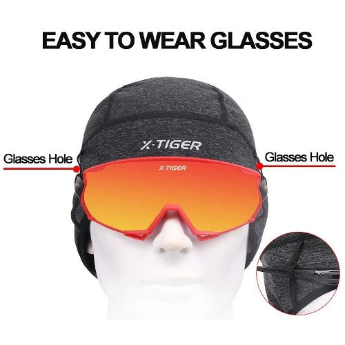 Winter cycling cap thermal fleece X-Tiger
