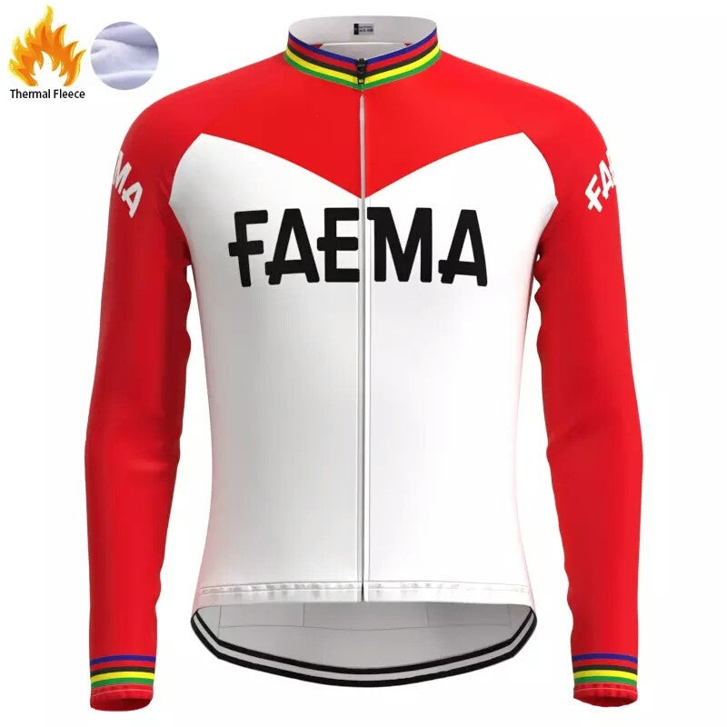 FAEMA vintage cycling set thermal fleece winter
