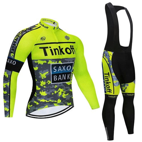 Tinkoff Saxo Bank cycling set long sleeve