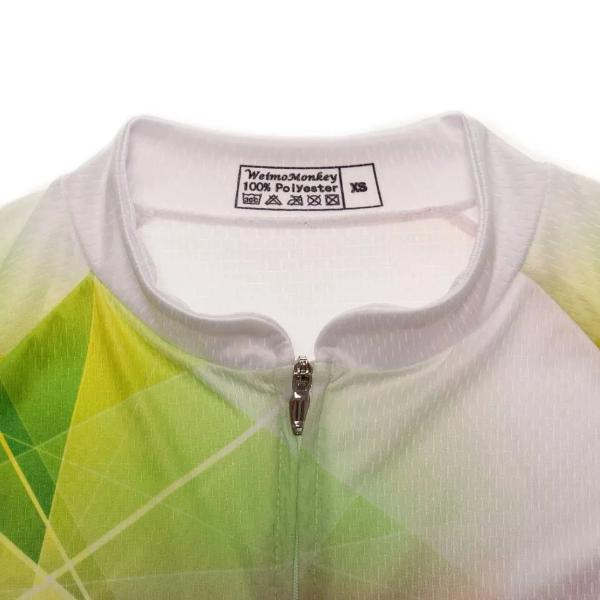 Women colourful triangle cycling jersey