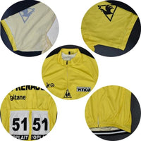Renault Gitane 78 vintage Yellow cycling set short sleeve