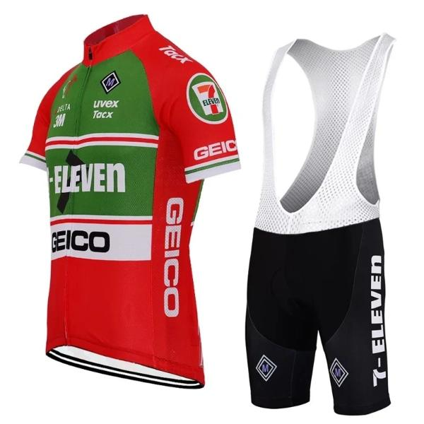 7 ELEVEN Red retro cycling suit