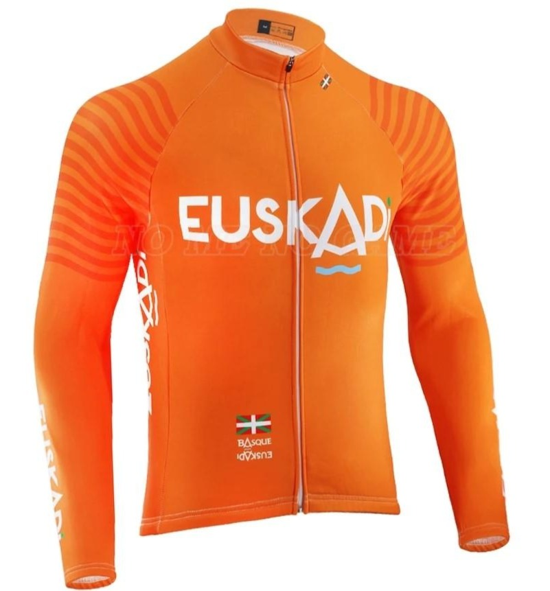 Euskadi retro cycling jersey long sleeve