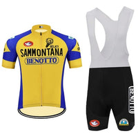 Gelati Sammontana retro cycling set short sleeve 1982