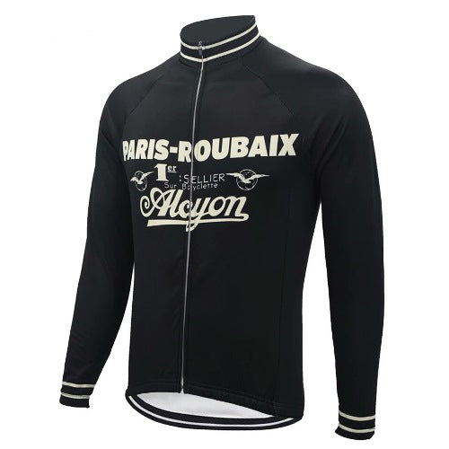 Paris-Roubaix retro cycling jersey long sleeve