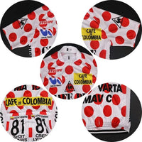 Cycling Jersey Tour de France 85 Cafe de Colombia King of Mountains