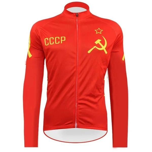 long sleeve cycling jersey CCCP
