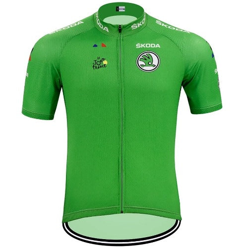 Green cycling jersey Tour de France replica