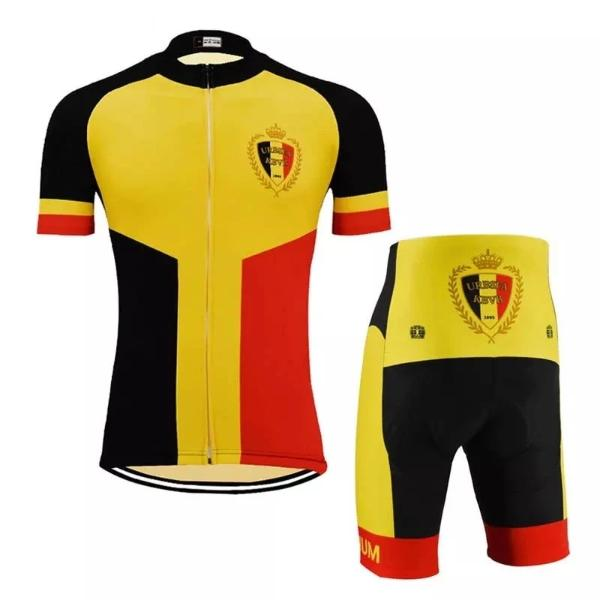 Belgium national team cycling set short sleeve