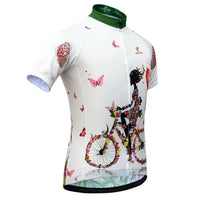 2019 Women vintage bike jersey short sleeve