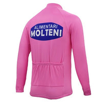 Molteni retro cycling jersey Giro d'Italia 1972 long sleeve