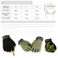 Camouflage cycling gloves