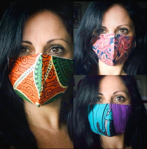 Handmade reusable washable Face protection Mask Organic Natural - NaturaCurandera.com
