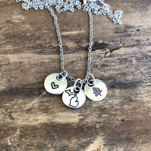 Michigan tiny charm necklace