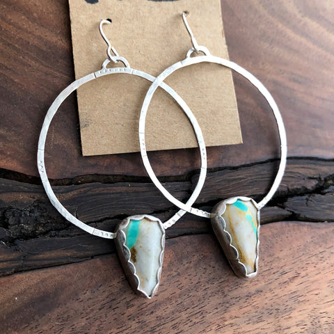 royston ribbon turquoise hoops