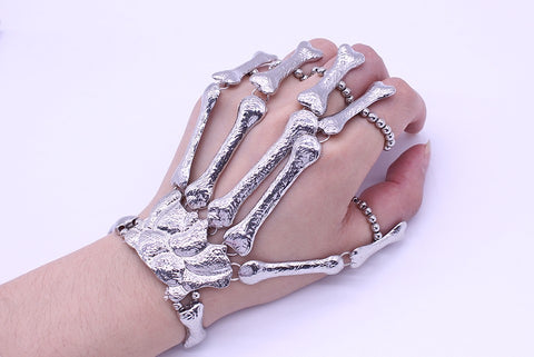 Skeleton Bone Hand Finger Bracelets