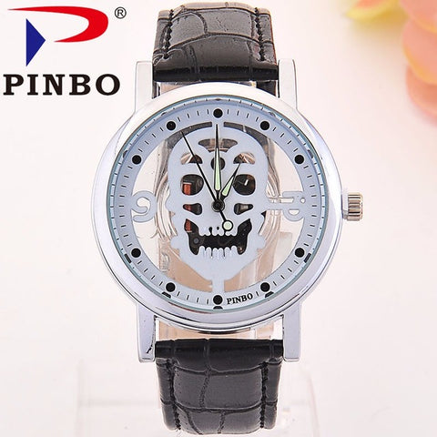 Skull Skeleton Faux Leather Watch