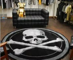 Acrylic Skull Round Carpet for Living Room