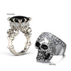 Image of King and Queen Skull Couple Rings Set