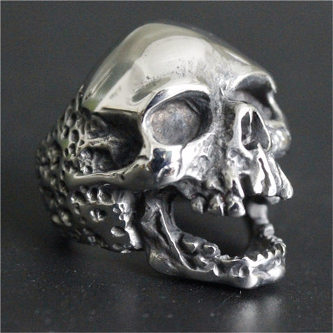 Huge Skull Stainless Steel Biker Ring