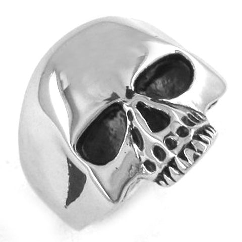 Silver Skull Stainless Steel Biker Ring