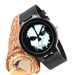 Skull Face Wooden Watch for Men