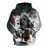 Image of Poker Master Skull 3D Hoodies
