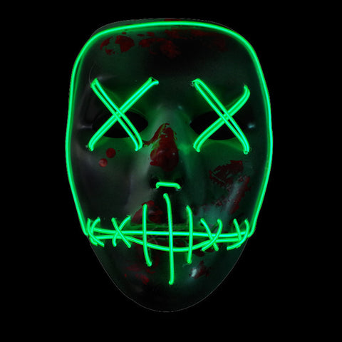 Neon Skull Wired LED Mask