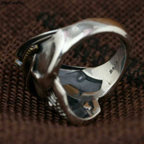 Eagle Cap Skull Ring