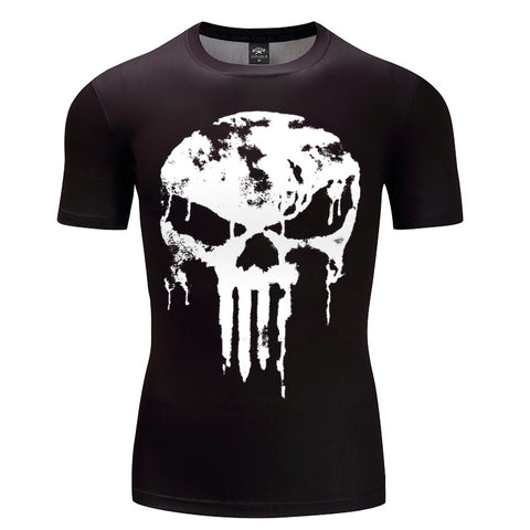 3D Skull x Punisher Compression Shirts