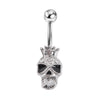 Image of Queen Skull Belly Button Piercing