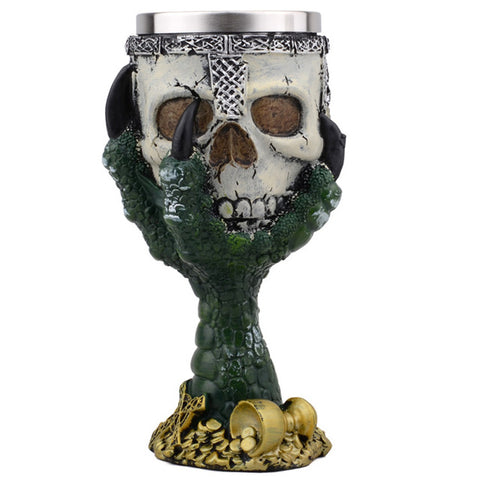 Claw Skeleton Skull Stainless Steel Wine Glass