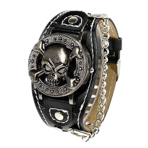 Clamshell Fashion Skull Watch