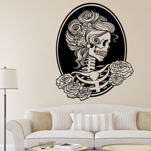 Halloween Female skull Creative 3D Wallpapers