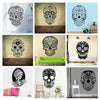 Image of Mexican Sugar Skull Vinyl Wall Decal Sticker